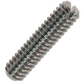 EN ISO 7436 Винт с прямым шлицем и засверленным концом