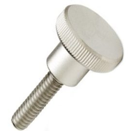 DIN 464 Винт прижимной высокий с цилиндрической рифленой (накатанной) головкой и цилиндрическим подголовком