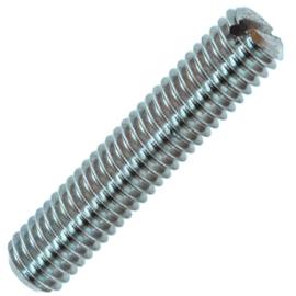 ISO 4766 Винт установочный стопорный с прямым шлицем и плоским концом