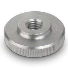 DIN 467 Гайка круглая рифленая, низкая, нажимная с накаткой